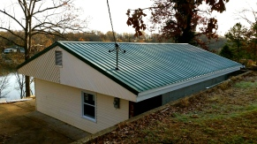 New Green Metal Roof