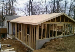 Framing of house addition