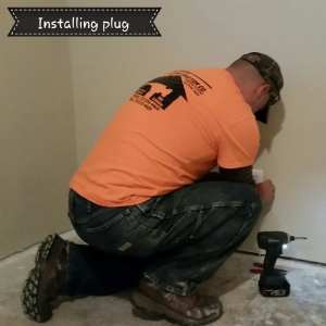 Installing plug